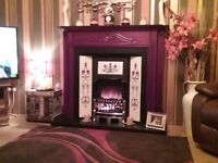 Electrick fire and surround