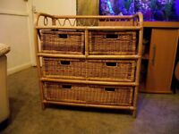 bamboo wicker chest of drawers