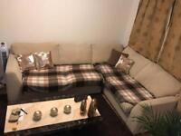 Dfs beige corner sofa