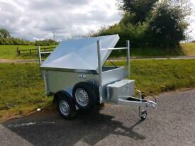 Small galvanised trailer with lid