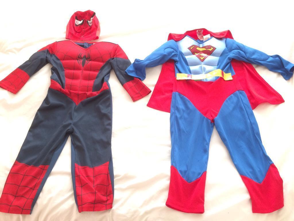 SpiderMan & superman costume age 3-4