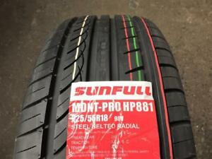 4 NEW SUMMER 225 55 18 SUNFULL MONT-PRO HP881 !!!