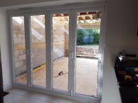 2400 x 2100mm UPVC BIFOLD DOORS IN WHITE