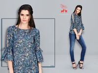 MRIGYA LAUNCH NEW CATALOG STELLA SUMMER COOL WESTERN TOPS COLLECTION BEST RATE