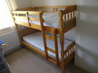 Solid Bunk beds with mattresses
