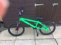 Like new BMX bike by Raleigh 20 inch wheels