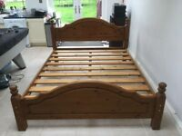Cotswold solid pine bed. King size