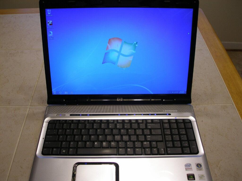 hp dv9800s hd laptop 17 0 fast 2x 2 40ghz 120gb ssd 3gb hdmi