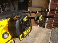 Cycle carrier rear tyre mounted