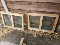 2 Double glazed shed windows