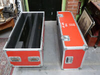 Large Red Flight Case on Wheels Luggage Storage Foam Padded 5 Star Cases