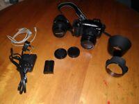 Olympus E-330 Digital SLR + lenses + bag