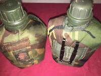 2X camouflage water bottles