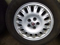 "Rover 75 1999-2006 15"" SET OF 4 WHEELS WITH TYRES 205/65 R15 ref.E18"