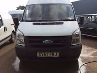 ford transit mwb fridge van.57 reg.1 owner.new mot.ready for work