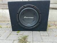 12in pioneer subwoofer and amp