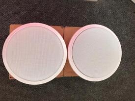 Pair Evax FM6/T quick mount ceiling speakers