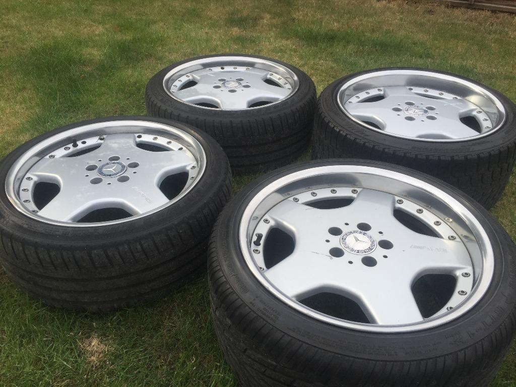 Alloy Rim Repair >> R129 W208 W126 18 inch Mercedes AMG Split 2 Piece alloy rim wheels with tyres | in Southall ...