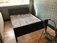 FREE double bed frame IKEA Skorva