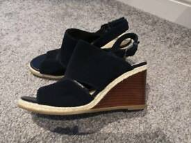 Marks and Spencers navy wedges size 5.5