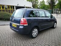 7 SEATER VAUXHALL ZAFIRA 1.6 LIFE IN CLEAN CONDITION. MOT APRIL 2019. 2 KEYS. FULL SERVICE HISTORY