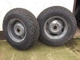 Grass wheels for mf35 135 dexta Ferguson