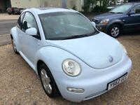 2001 VW VOLKSWAGEN BEETLE 2.0 BLUE 3DR IMMACULATE EXAMPLE