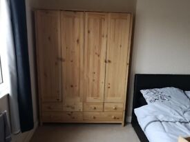 Wardrobe , excellent condition, smoke free and pet freehouse