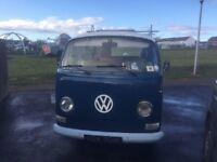 Rare 1972 rhd vw t2 campervan tin top restoration project