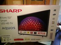 "SMART TV SHARP 32"" UNOPENED IN BOX"