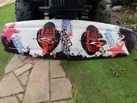 Loose unit wakeboard, Devocean rope & Obrien bindings for sale