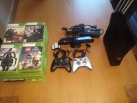 Xbox 360 500gb with kinect, 2 controllers and 48 games most of which are bestsellers.