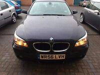 STUNNING BMW 520d e60 56 plate 98k miles 6 speed manual sedan 17 alloys business 525d 530d 520 .