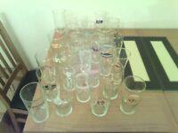 Beer glasses pint glass various branded beers