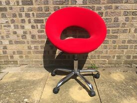 Red crescent office chair