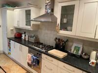 Kitchen units including oven, hob, sink and inbuilt fridge freezer