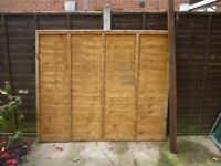 FENCE PANEL 6 FT HIGH 5 FT WIDE & WOODEN FENCE POST 8 FT HIGH