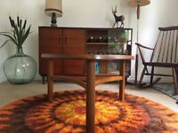 Vintage Retro Mid Century Teak & Glass Nathan Coffee Table