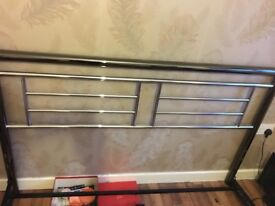 Chrome and nickel Kingsize slat frame