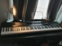 RockJam Full Size 88 Key Digital Piano and adapters