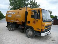 JOHNSON ROAD SWEEPER ON LEYLAND DAF 45 LEFT HAND DRIVE