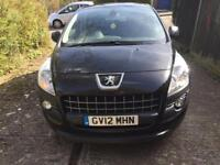 Peuget 3008 1.6 HDI 2012 cheap car only £5550