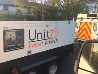 Generator Hire 1 KVA to 300 KVA, Stage PA Lighting Camera Truss Led video Screen