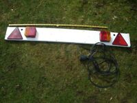 Trailer lights, trailer board. £7.00