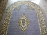 Oval Carpet Rug - Chinese Style Wool. Approx 8 ft x 5ft