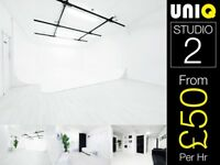 ALL WHITE Room Event Venue Space Hire Corporate Birthday Party Location Photo Studio Canary Wharf