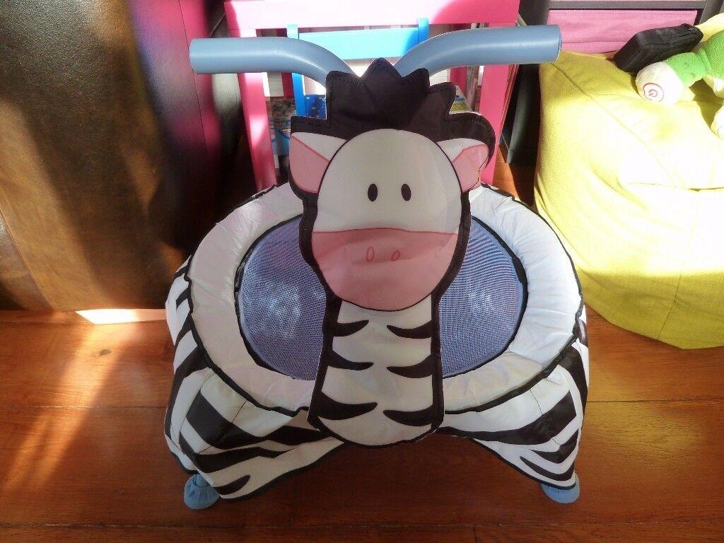 Talking Zebra Toddler Trampoline
