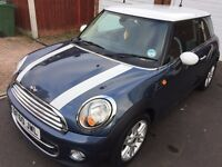 *REDUCED* MINI COOPER D, STUNNING HORIZON BLUE, FREE CAR TAX, CHILLI PACK & HEATED 1/2 LEATHER SEATS
