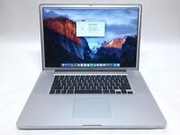 Macbook 17 inch mac Pro laptop Intel 3.06ghz x 2 Core 2 duo processor FHD 1920x1200 screen