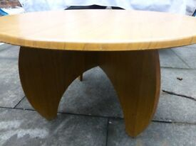Walnut style coffee table.